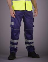 Hi-Vis Cargo Trousers With Knee Pad Pockets