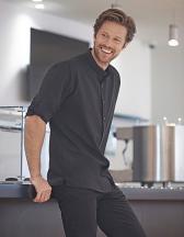 Men`s Mandarin Shirt Roll Tab Sleeve