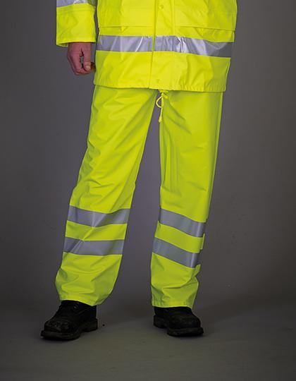 Hi-Vis Soft Flex Breathable Rain Trousers